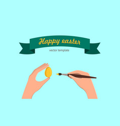 Happy easter tamplate vector