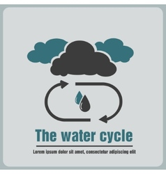 Icon the water cycle vector