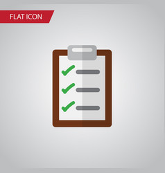 Isolated checklist flat icon questionnaire vector
