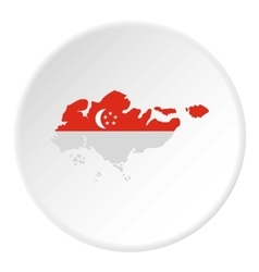 Map of Singapore icon flat style vector image vector image