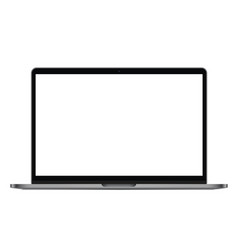 Modern laptop isolated vector