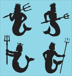Neptune Silhouettes vector image vector image