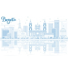Outline Bogota Skyline with Blue Buildings vector image vector image