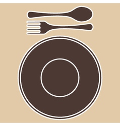 PlateForkSpoon vector image