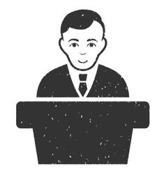 Politician grainy texture icon vector