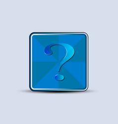 Question tag symbol vector