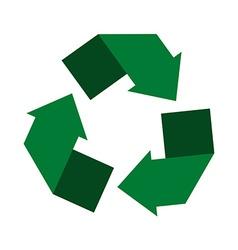 Recycling center Circle arrows vector image