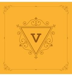 Royal logo design template flourishes vector