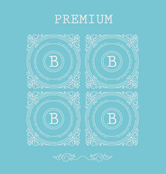 set of monogram letter b vector image vector image
