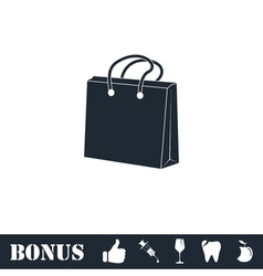 Shopping bag icon flat vector image