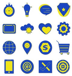 Simple using icons with shadow on white background vector image vector image