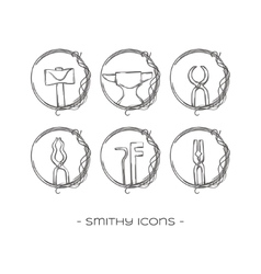 Smithy icons one vector