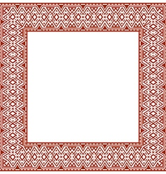 Square frame with ethnic elements vector