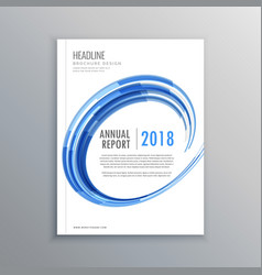 Stylish brochure flyer design template with blue vector