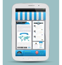 Tablet with advertising shopping online concept vector