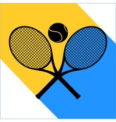tennis symbol sign vector image