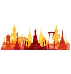 Thailand landmark skyline vector