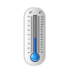 Thermometer white vector image