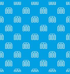 traffic lights pattern seamless blue vector image