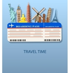 travel and Flights background vector image vector image