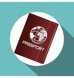 Travel passport vacation design vector