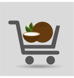 Fruit coconut carry buying icon graphic vector