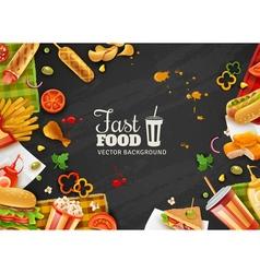 Fast Food Black Background Poster vector image