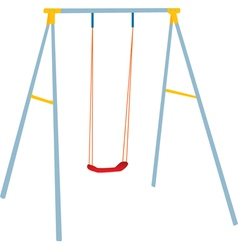 Children swing set vector
