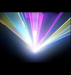 laser disco lights background vector image
