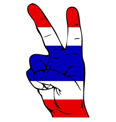 Peace sign of the thai flag vector