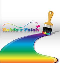 Rainbow paints vector