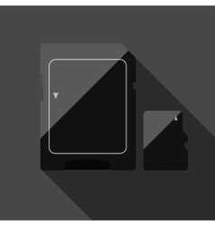 Memory cards vector