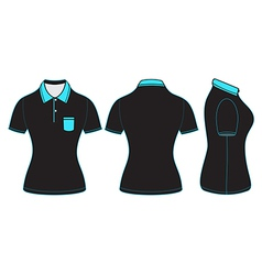 Polo woman shirt design templates vector