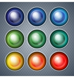 Infographics shiny realistic colorful spheres and vector