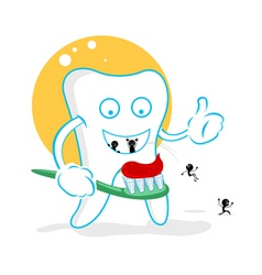 Cartoon tooth decay vector