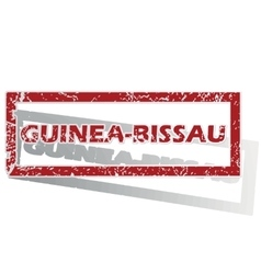 Guinea-bissau outlined stamp vector