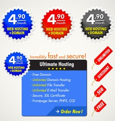 web elements for hosting vector image