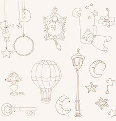 Sweet dreams - design elements for baby scrapbook vector