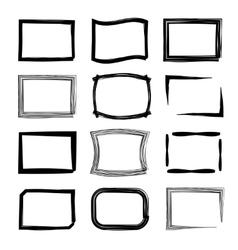 Rectangular frames Felt-tip pen and marker style vector image