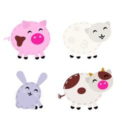 Cute farm animals vector