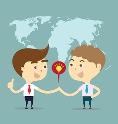 Two businessman shake hands for sell idea vector
