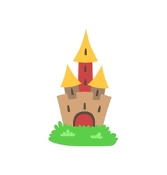 Fairytale castle drawing vector