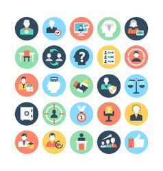Human resources colored icons 2 vector