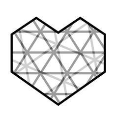 Abstract heart icon vector