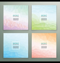Abstract polygonal with square text background set vector