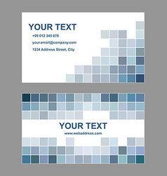 Abstract square design business card template vector