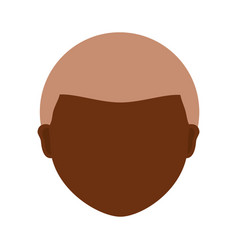 Adult faceless head vector