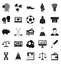 advantageous icons set simple style vector image vector image