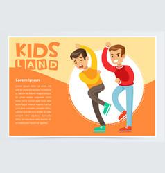 aggressive boy bullying classmate demonstration vector image vector image