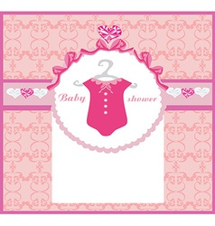 Baby girl shower invitation vector